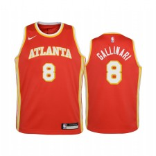 Atlanta Hawks Danilo Gallinari Icon Red Enfants Maillot & 8