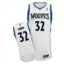 NBA Karl-Anthony Towns Authentic Men's White Jersey - Adidas Minnesota Timberwolves &32 Home