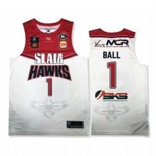 ILLAWARRA HAWKS & 1 LAMELO BALL BLANC SLAM AWAY MAILLOT NBL