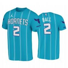 Lamelo Ball Hornets & 2 Icon T-shirt Teal 2020 NBA
