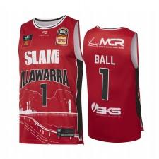 Illawarra Hawks & 1 Lamelo Ball Ville Red Theme Maillot Nbl