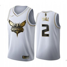 Lamelo Ball Charlotte Hornets Blanc Golden Edition Maillot 2020 NBA
