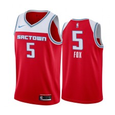 De'Aaron Fox Sacramento Kings City Edition Rouge Maillot