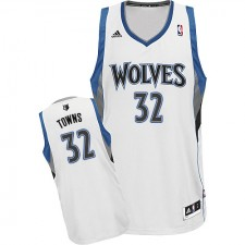 NBA Karl-Anthony Towns Swingman Men's White Jersey - Adidas Minnesota Timberwolves &32 Home