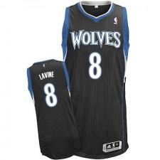 NBA Zach LaVine Authentic Men's Black Jersey - Adidas Minnesota Timberwolves &8 Alternate