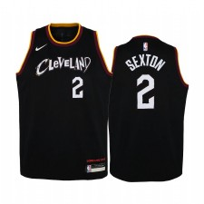 Cleveland Cavaliers Collin Sexton City Edition Noir Enfants Maillot - Nouvel uniforme