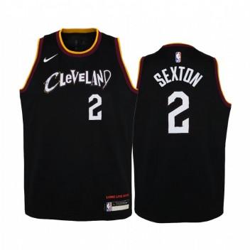 Cleveland Cavaliers Collin Sexton City Edition Noir Enfants Maillot - Nouvel uniforme