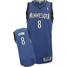 NBA Zach LaVine Authentic Men's Slate Blue Jersey - Adidas Minnesota Timberwolves &8 Road