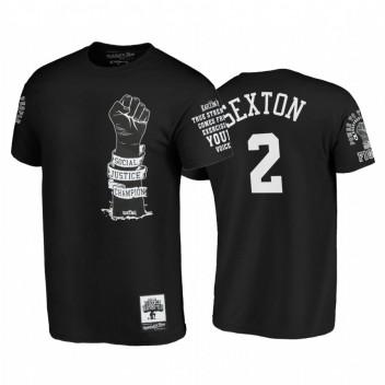 Cavaliers Collin Sexton Social Justice Social Champion Power Fight Noir Tee
