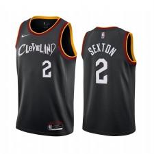 Collin Sexton Cleveland Cavaliers Noir City Maillot Nouveau Uniforme