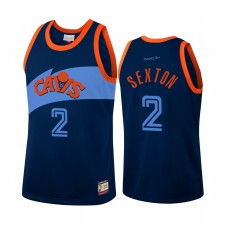 Cleveland Cavaliers Collin Sexton & 2 Bleu Team Heritage Maillot