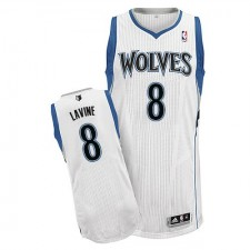 NBA Zach LaVine Authentic Men's White Jersey - Adidas Minnesota Timberwolves &8 Home