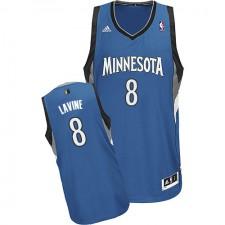 NBA Zach LaVine Swingman Men's Slate Blue Jersey - Adidas Minnesota Timberwolves &8 Road
