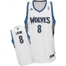 NBA Zach LaVine Swingman Men's White Jersey - Adidas Minnesota Timberwolves &8 Home