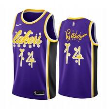Marc Gasol Los Angeles Lakers 2020 Nuit de Noël Purple Maillot Festive Edition spéciale