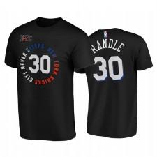 Julius Randle Knicks & 30 Ville Ne dormant jamais Noir T-shirt