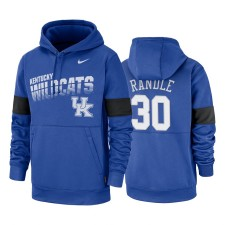 Kentucky Wildcats & 30 Julius Randle Royal 2019 Sweat à capuche Therma-Fit Sideline