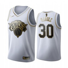Julius Randle & 30 New York Knicks Blanc Golden Edition Maillot