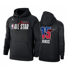 All-Star 2021 Nikola Jokic & 15 Western Conference officielle logo Noir Sweat à capuche Pullover
