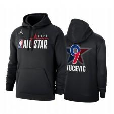 All-Star 2021 Nikola Vucevic & 9 Conférence Office de la Conférence de l'Est Noir Sweat à capuche Pullover