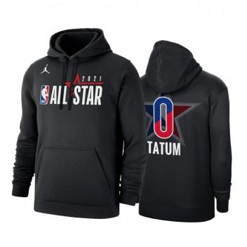 All-Star 2021 JAYSON Tatum # 0 Conférence Officiel de la Conférence de l'Est Noir Sweat à capuche Pullover