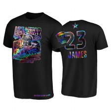 All-Star 2021 LeBron James HBCU Spirit Holographique Iridescent Noir T-shirt 23