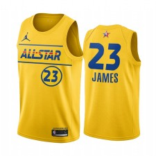 All-Star 2021 & 23 Lebron James Gold Western Conference Maillot Lakers