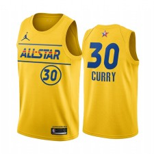 All-Star 2021 & 30 Stephen Curry Gold Western Conference Maillot Guerriers