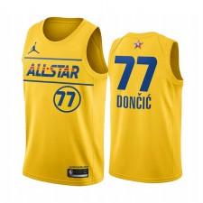 All-Star 2021 & 77 Luka Doncic Gold Western Conference Maillot Mavericks
