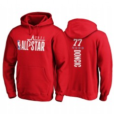 All-Star 2021 & 77 Luka Doncic Pick-A-joueur Pullover Rouge Sweat à capuche