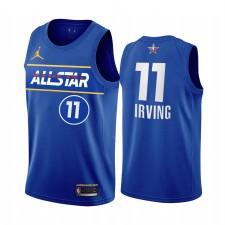All-Star 2021 Kyrie Irving Maillot Bleu Freins de la Conférence de l'Est Uniforme