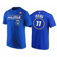 All-Star 2021 & 11 Kyrie Irving Nom du démarreur Numéro T-shirt Royal