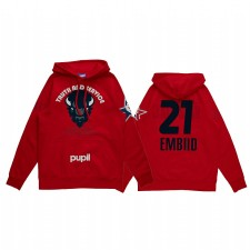 Joel Embiid 2021 NBA All-Star Game X HBCU Collection Howard Université Université Red Sweat à capuche Rouge Pull