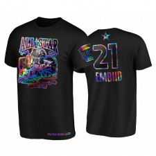 ALL-STAR 2021 JOEL EMBIID HBCU SPIRIT IRIDECENT HOLOGE NOIR T-shirt et 21