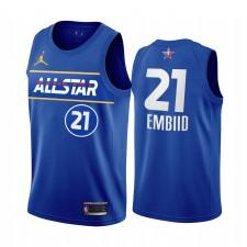 All-Star 2021 Joel Embiid Maillot Bleu Conférence de l'Est 76ers Uniforme