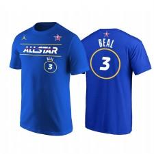 All-Star 2021 & 3 Bradley Beal Démarreur Nom Numéro T-shirt Royal