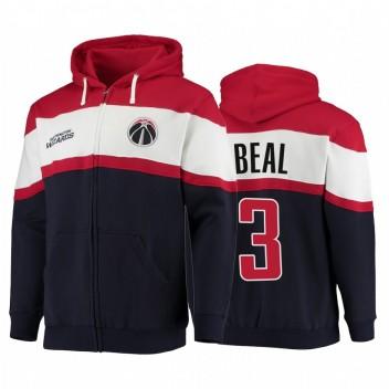 Washington Wizards Bradley Beal Navy Colorblock Sweat à capuche All-Star 2021 Stare Full-Zip