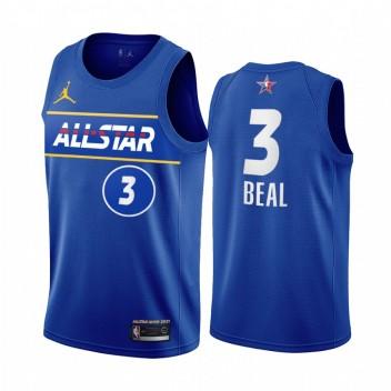 All-Star 2021 Bradley Beal Maillot Bleu Assistant de la Conférence de l'Est Uniforme