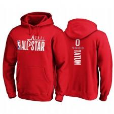 All-Star 2021 & 0 JAYSON TATUM Sweat à capuche rouge pull