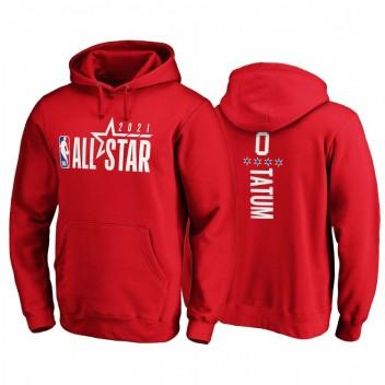 All-Star 2021 # 0 JAYSON TATUM Sweat à capuche rouge pull