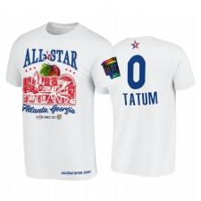 All-Star 2021 Jayson Tatum Support Noir Collèges HBCU Spirit Blanc T-shirt & 0