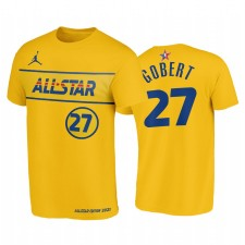 T-shirt All-Star 2021 & 27 Rudy Gobert Western Conference Western T-shirt Gold Jazz