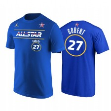 All-Star 2021 & 27 Rudy Gobert Western Conference de Jazz Royal T-shirt