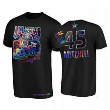 All-Star 2021 Donovan Mitchell HBCU Spirit Iridescent Holographique Noir T-shirt 45