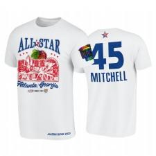 All-Star 2021 Donovan Mitchell Support Noir collèges HBCU Spirit Blanc T-shirt 45