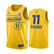 Domantas Sabonis Compétences Challenge All-Star 2021 Oriental Gold Pacers Maillot