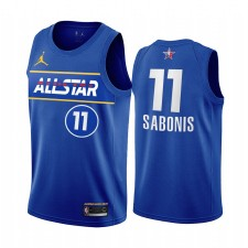 All-Star 2021 Domantas Sabonis Maillot Bleu Orternace Conférence Pacers Uniforme