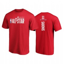All-Star 2021 & 11 Domantas Sabonis Pick-A-Player T-shirt Rouge Rouge