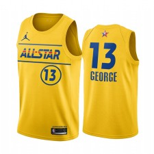 All-Star 2021 & 13 Paul George Gold Western Conference Maillot Clippers