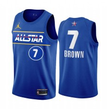 All-Star 2021 Jaylen Brown Maillot Bleu Conférence Eastern Conférence Uniforme Celtics